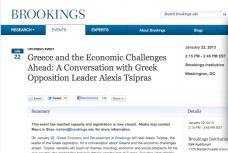 Συν/Συριζα-Brookings Institute, περαιτέρω οδηγίες απο τα Think Tanks της υπερεθνικής και σιωνιστικής ελίτ